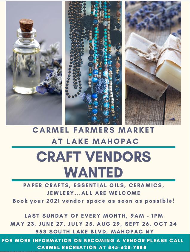 2021 Craft Vendors Wanted