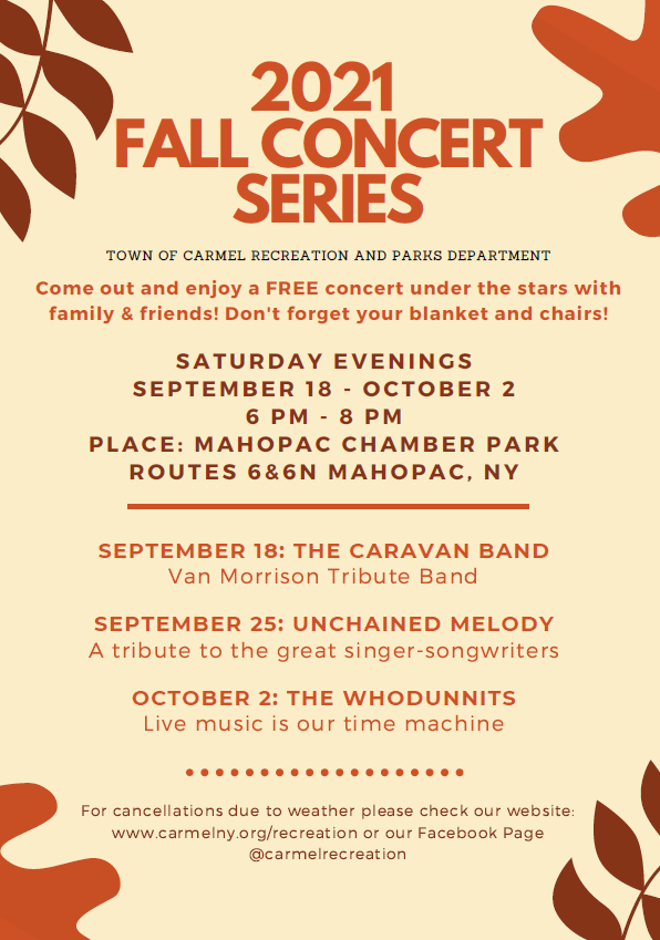 Flyer Fall Concerts 2021