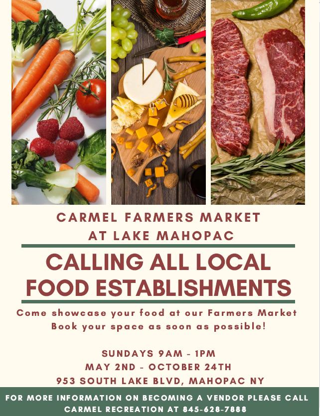 2021 Food establishments wanted