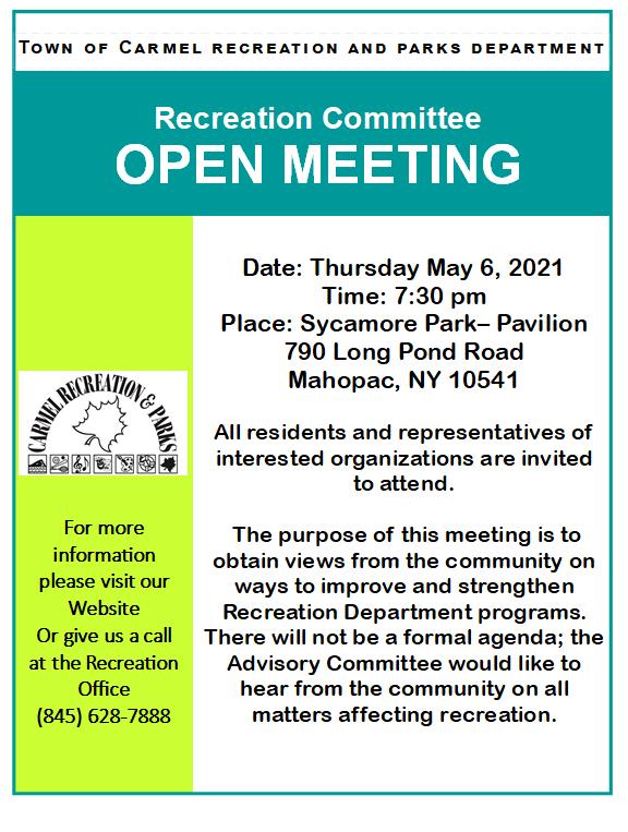 2021 Open Meeting