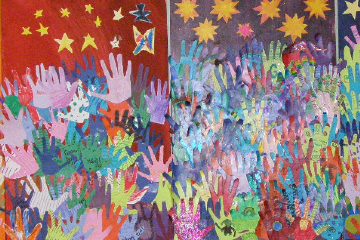 """2015 Summer Camp Art Project """"Reach for the Stars"""""""